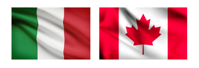 Image(s) Source: Italian and Canadian Waving Flag Images, Freepik.com